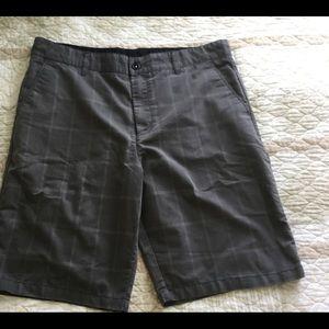 FADED GLORY Gray Plaid Shorts